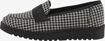 heine Slipper in schwarz / weiß, Produktansicht