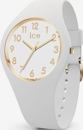 ICE WATCH Uhr in gold / weiß: Frontalansicht