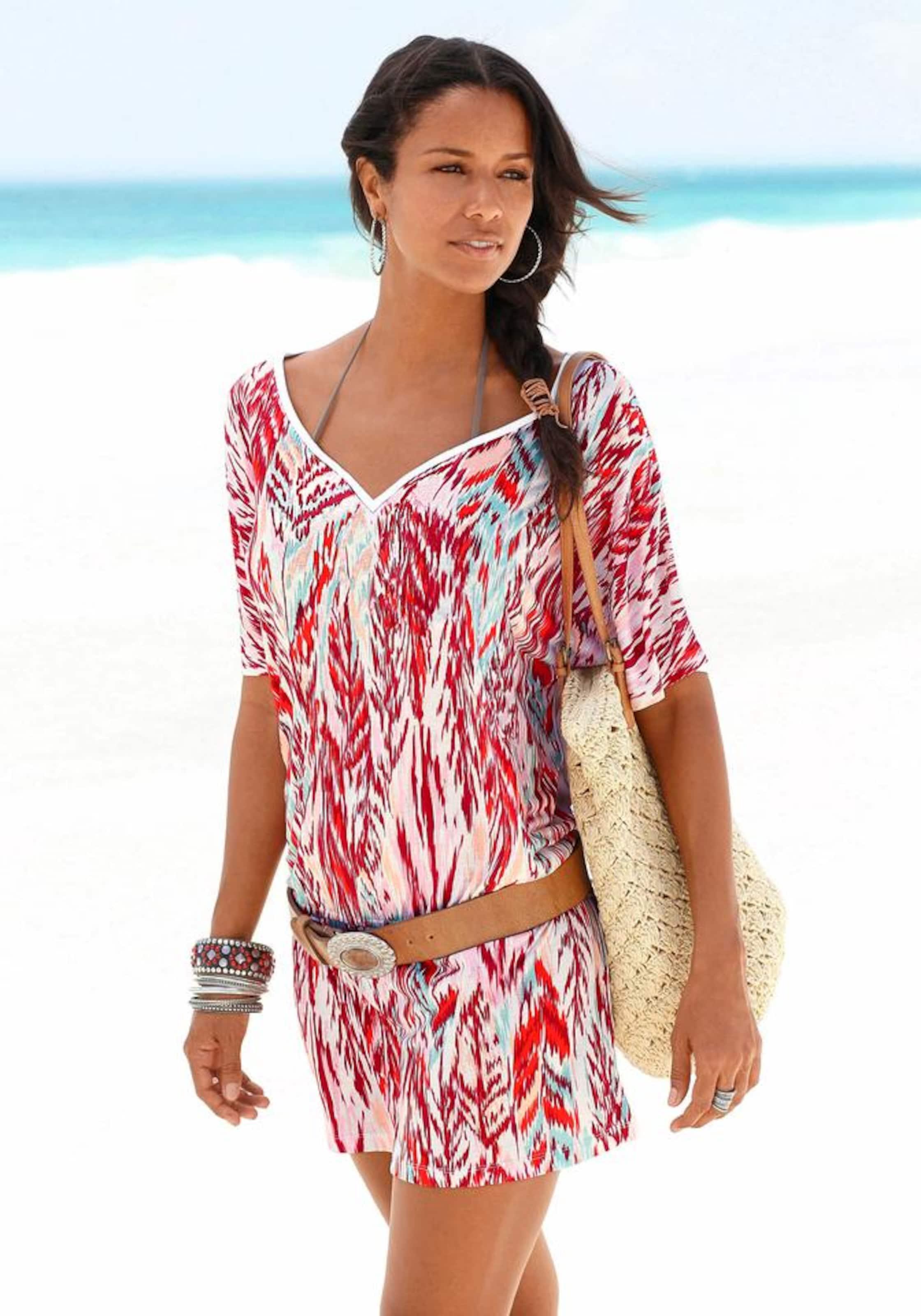 Beachwear Label TürkisRot Red Longshirt In S oliver FKcl1J
