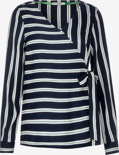 CECIL Bluse in nachtblau / grün / weiß, Produktansicht