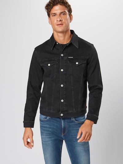 Calvin Klein Jeans Tussenjas 'FOUNDATION SLIM DENIM JACKET' in de kleur Zwart, Productweergave