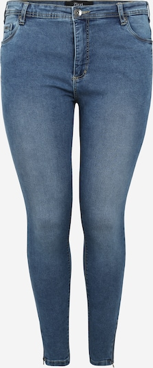 Zizzi Jeans 'JEANS, CROPPED, AMY, SUPER SLIM' in de kleur Blauw denim, Productweergave