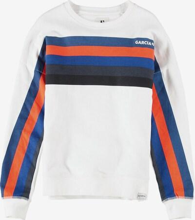 GARCIA Sweatshirt in blau / nachtblau / orange / weiß, Produktansicht