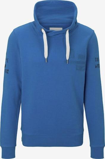 TOM TAILOR Strick & Sweatshirts Sweatshirt mit Stehkragen und Print in blau, Produktansicht