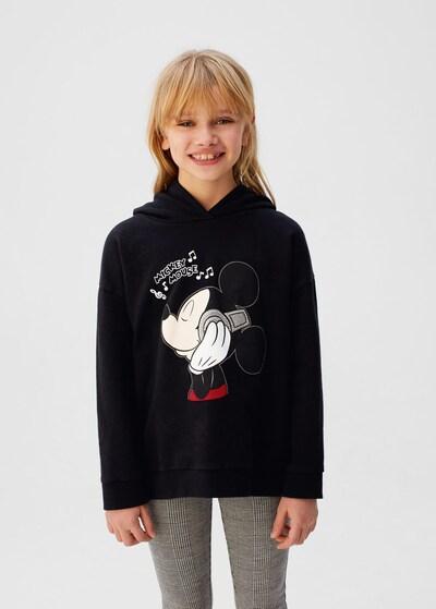 MANGO KIDS Sweatshirt 'Music' in schwarz: Frontalansicht