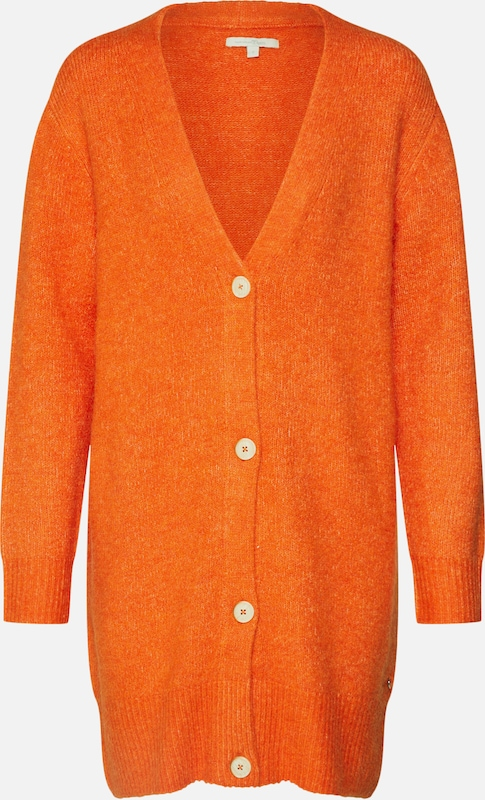 TOM TAILOR DENIM Strickjacke in orange, Produktansicht