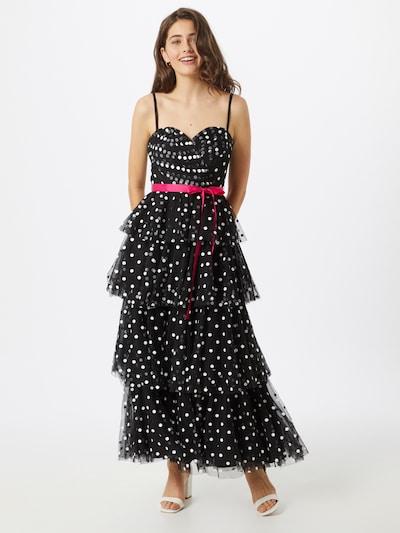 Forever Unique Kleid 'MILLIE MAXI' in elfenbein / rot / schwarz, Modelansicht