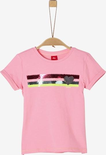 s.Oliver Shirt in gelb / beere / hellpink / silber, Produktansicht