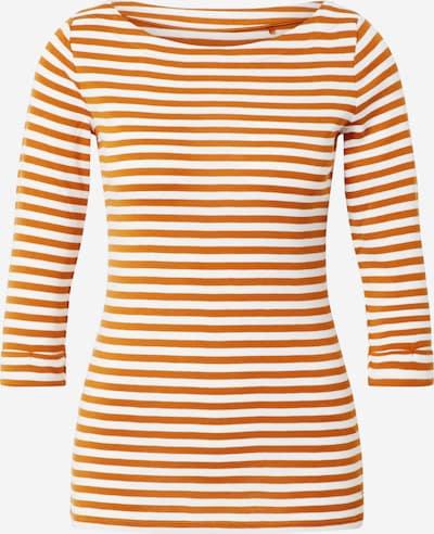 ESPRIT T-Krekls pieejami zeltaina kastaņkrāsa / balts: Priekšējais skats