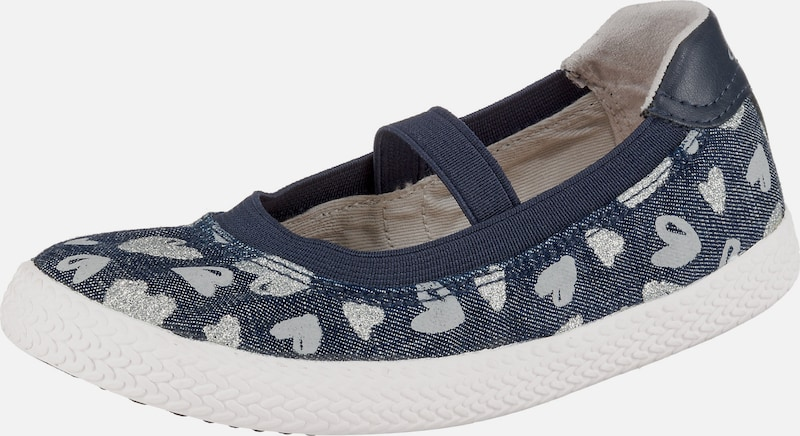 GEOX Ballerinas 'Kilwi Girl' in blue denim / silber, Produktansicht