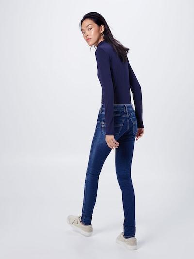 Herrlicher Jeans 'Touch Slim' in blue denim: Rückansicht