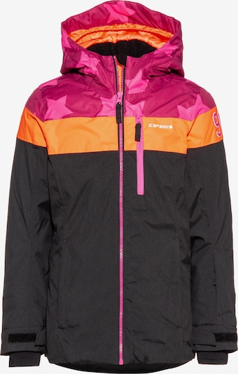 ICEPEAK Skijacke 'Lane' in cyclam / orange / schwarz, Produktansicht