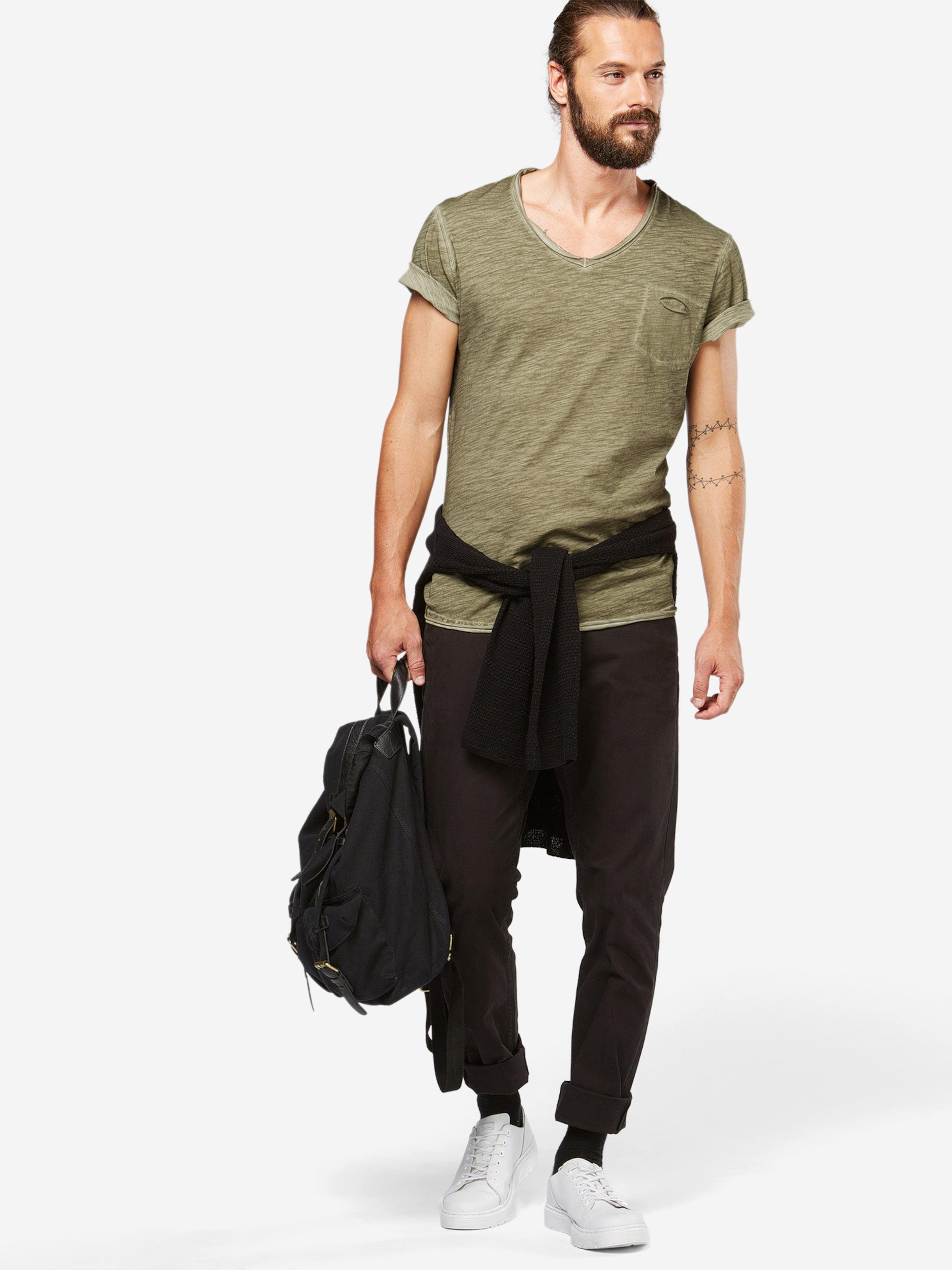 Largo T Grün ausschnitt In Key shirt V Mit SMpqUzVG