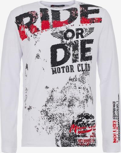CIPO & BAXX Shirt in rot / schwarz / weiß, Produktansicht
