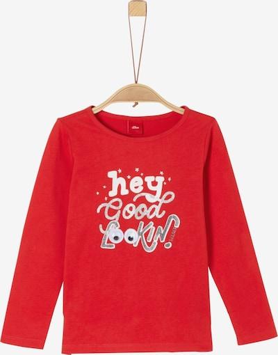 s.Oliver Junior Shirt in rot / weiß: Frontalansicht