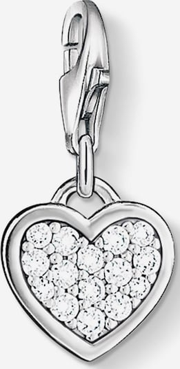 Thomas Sabo Charm-Einhänger 'Herz' in silber / weiß, Produktansicht