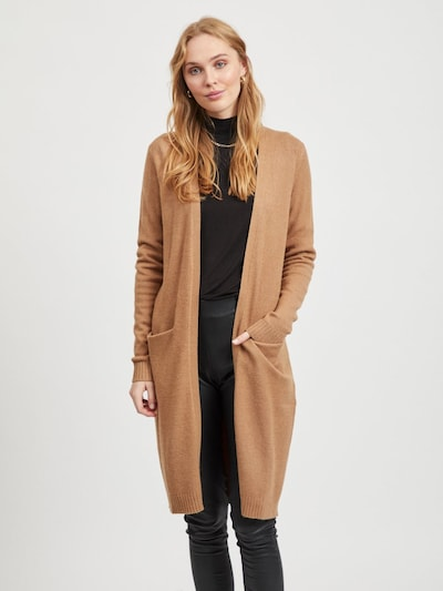 VILA Knitted Coat 'Ril' in Light brown, View model