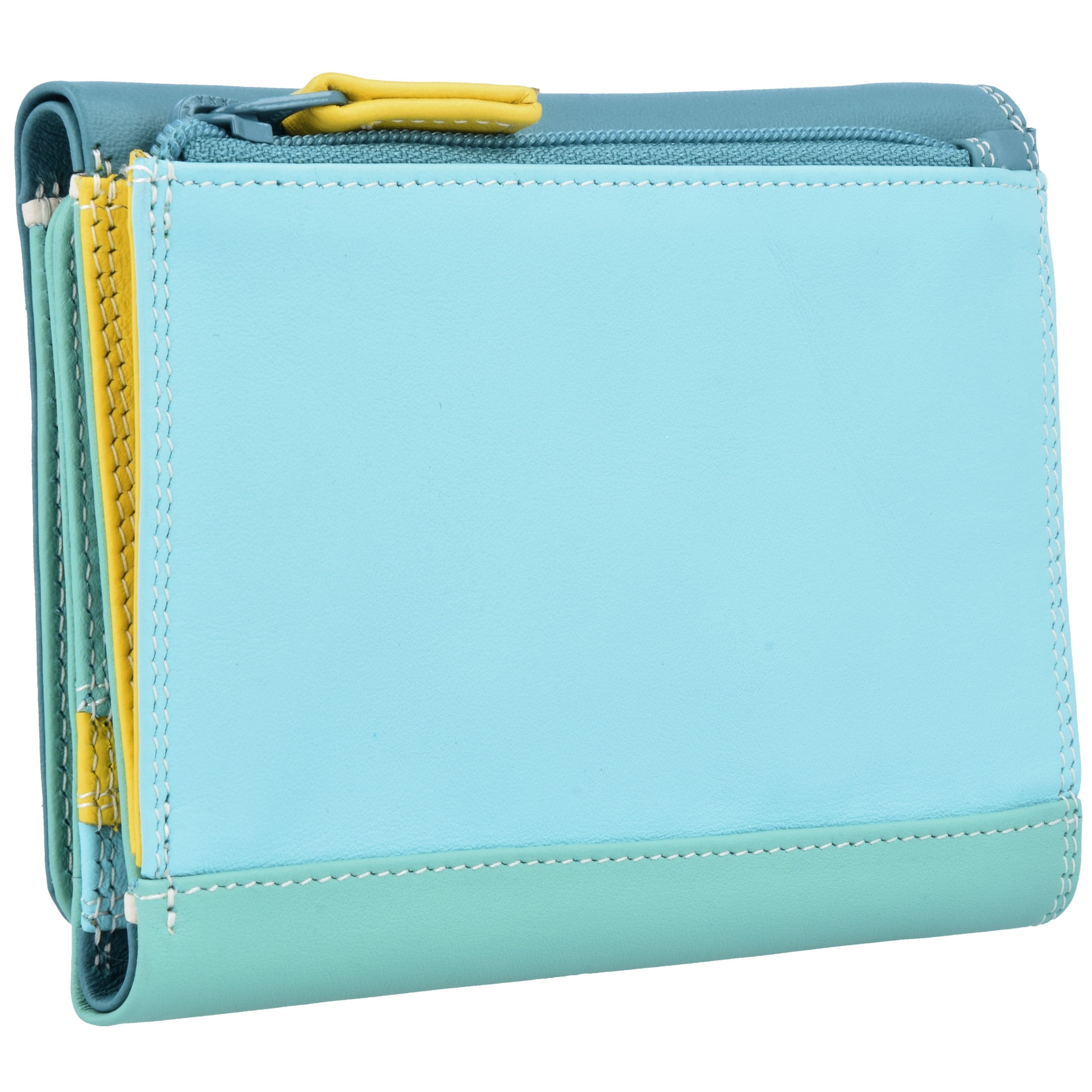 fold' Pastel Menthe En monnaies Tri TurquoiseBleu 'medium Mywalit Porte Jaune K1JcFl