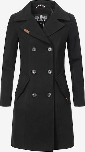 MARIKOO Wintermantel 'Nanakoo' in schwarz, Produktansicht