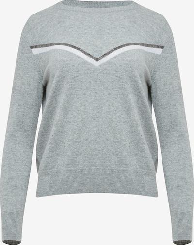 DREIMASTER Pullover in grau / silber / weiß, Produktansicht