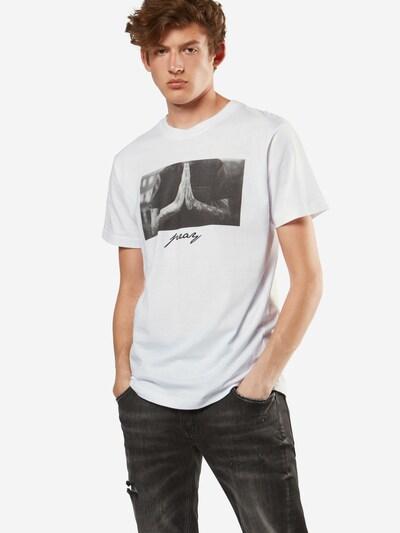 Mister Tee T-Shirt 'Pray' in weiß: Frontalansicht