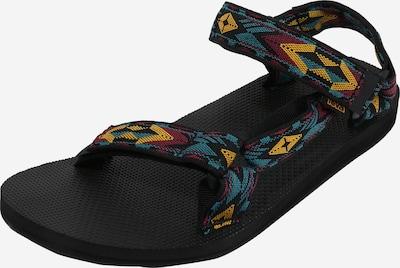 TEVA Sandale za hodanje u tirkiz / žuta / bordo / crna, Pregled proizvoda