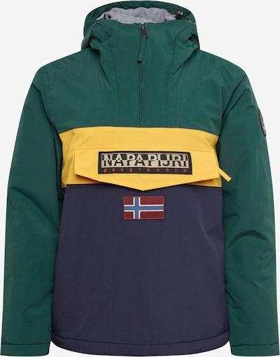 NAPAPIJRI Jacke 'RAINFOREST BLOCK' in dunkelblau / gelb / dunkelgrün, Produktansicht