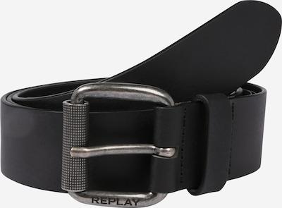 REPLAY Pasek 'Leather Belt' w kolorze czarnym: Widok z przodu