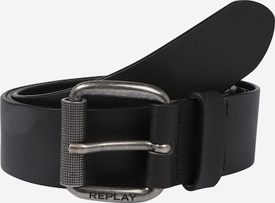 REPLAY Ledergürtel 'Leather Belt' in schwarz, Produktansicht
