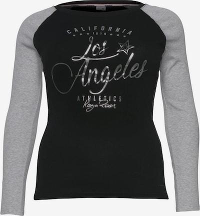 KangaROOS Longsleeve in graumeliert / schwarz, Produktansicht