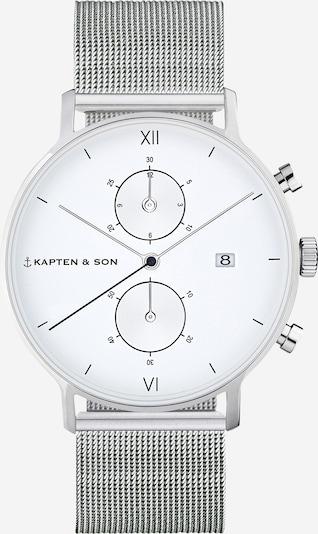 Kapten & Son Zegarek analogowy w kolorze srebrny / białym, Podgląd produktu