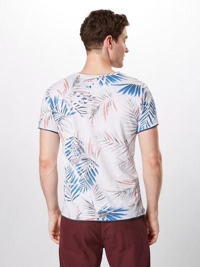 Key Largo Shirt 'MT PALM round' in blau / weiß: Rückansicht