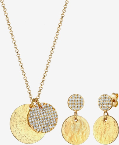 ELLI PREMIUM Schmuckset Geo, Vintage, Plättchen in gold, Produktansicht