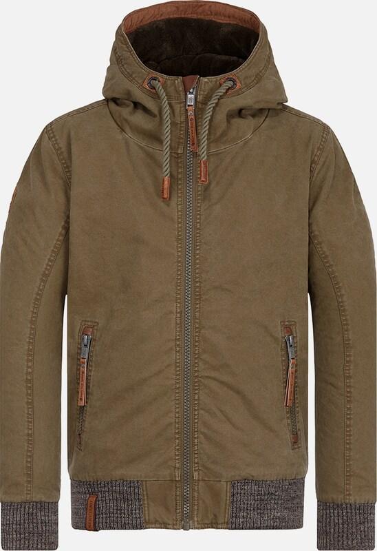 Naketano Jacket in graumeliert   khaki  Markenkleidung für Männer und Frauen