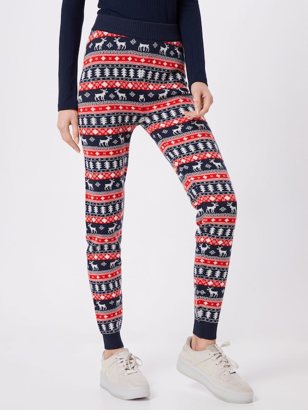 VILA Leggings in navy / rot, Modelansicht