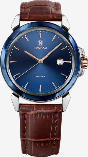 JOWISSA Analoog horloge 'LeWy 3' Swiss Men' in de kleur Blauw / Bruin / Rose-goud / Zilver, Productweergave