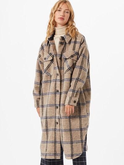Rudeninis-žieminis paltas 'Kassidy' iš MOSS COPENHAGEN , spalva - smėlio / mėlyna, Modelio vaizdas