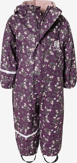 CELAVI Regenanzug in aubergine / mischfarben, Produktansicht