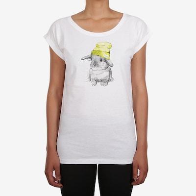 Iriedaily Shirt 'It Hasi' in gelb / grau / schwarz / weiß: Frontalansicht