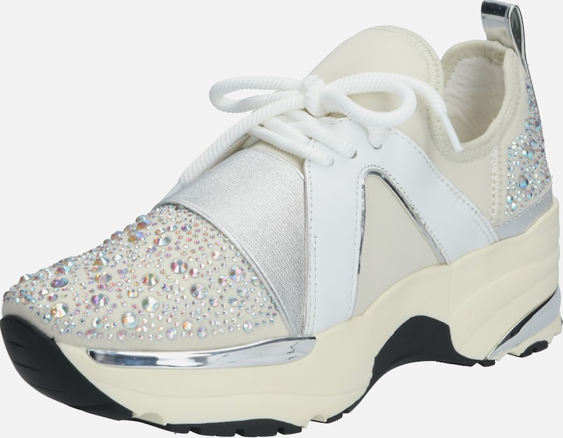 Carvela by Kurt Geiger Sneaker 'LAURENCE' in silber / offwhite: Frontalansicht
