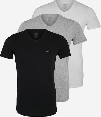 DIESEL Shirt 'UMTEE-JAKE' in grau / schwarz / weiß, Produktansicht