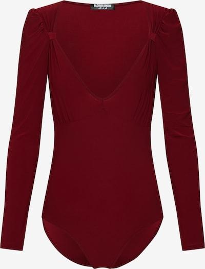 burgundi vörös Fashion Union Póló 'ROSA', Termék nézet