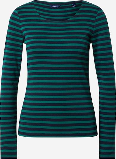 GANT Majica '1X1 RIB' | mornarska / zelena barva: Frontalni pogled