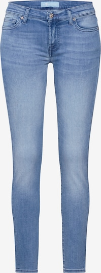 7 for all mankind Jean 'THE SKINNY CROP BAIR MIRAGE' en bleu clair, Vue avec produit