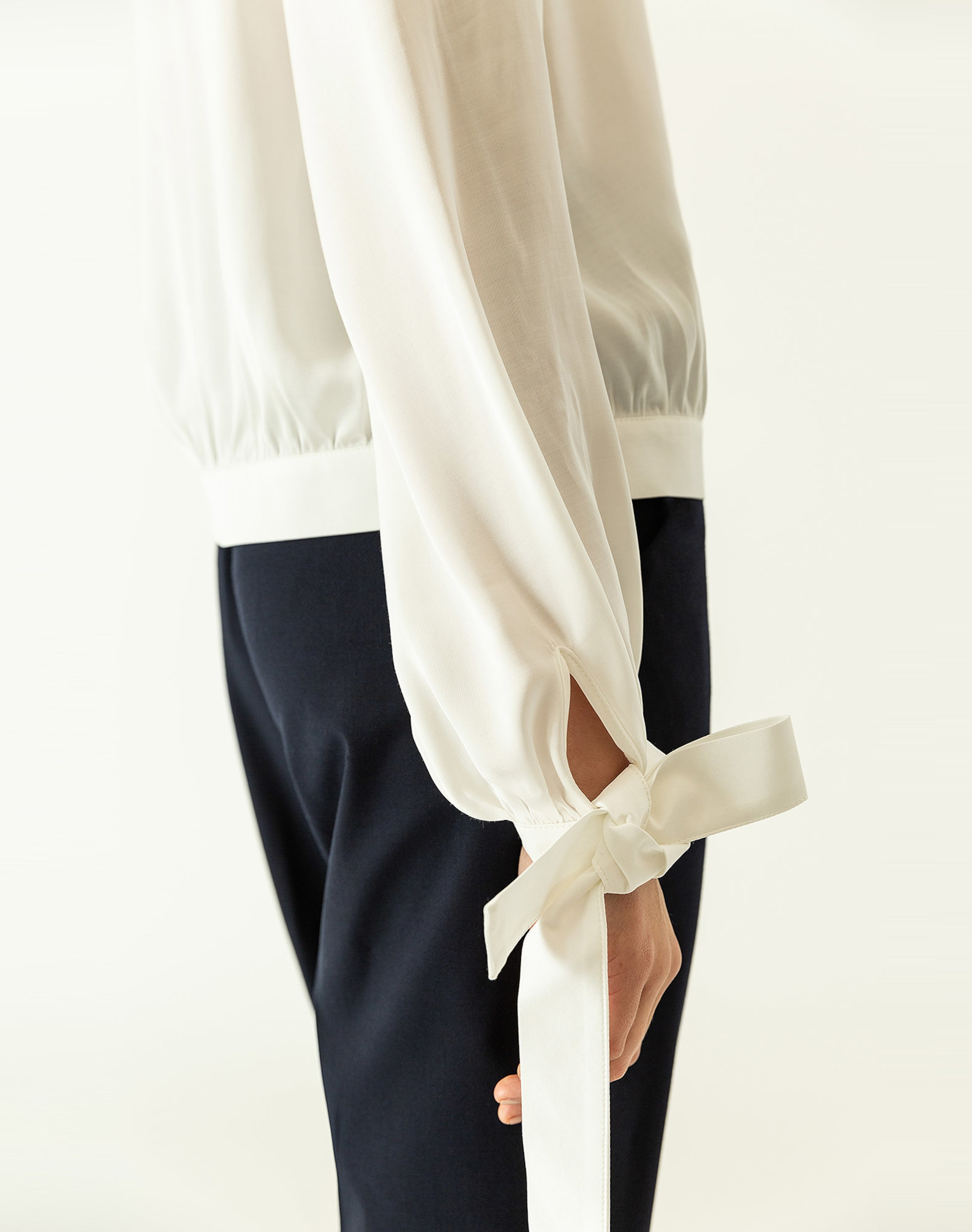 Bluse In 'bow Ivyamp; Naturweiß Oak Sleeve' N8wmvn0