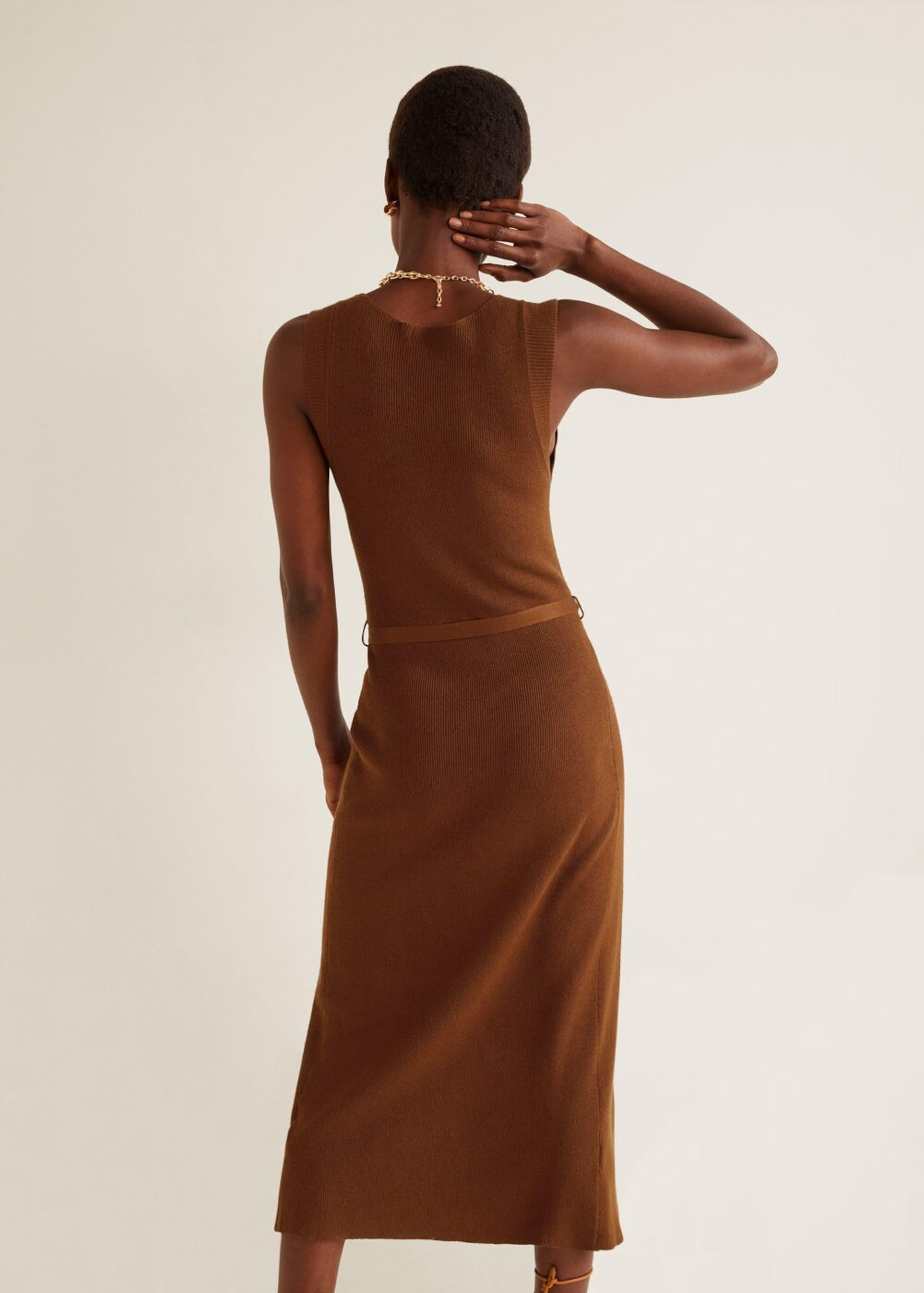 Kleid Kleid Mango Mango 'safari' In Karamell qGUSzMVp