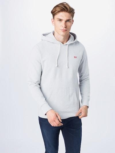 LEVI'S Sweatshirt in grau / rot: Frontalansicht