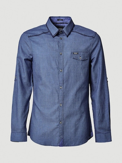 GUESS Hemd in blau, Produktansicht