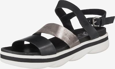 MJUS Sandale in schwarz / silber, Produktansicht