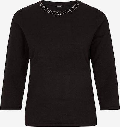s.Oliver BLACK LABEL Pulli in schwarz, Produktansicht